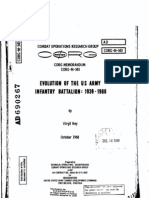 EVOLUTION OF THE U. S. ARMY INFANTRY BATTALION