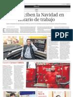 Ellos reciben la Navidad en horario de trabajo - El Comercio Arequipa -(22/12/2012)