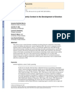The Role of the Family Context in Development of Emotion Regulation