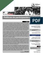 La situación de las políticas de participación ciudadana