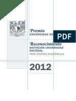2012 Premio UNAM