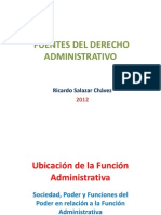 DA-03-2012!08!14-Fuentes Del Derecho Administrativo 2012 UIGV Agosto 2012 Ricardo Salazar Chavez