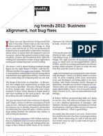 Software Testing Trends 2012 Business Alignment Not Bug Fixes