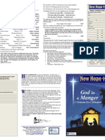 Christmas Eve Worship Bulletin