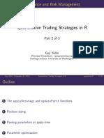 Quantitative Trading Strategies in R  Part 2 of 3