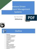 Database Driven 3D Content Management Systems