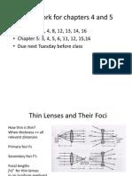 Chapter 4 Thin Lenses