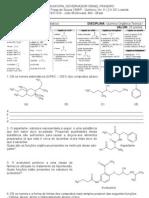 2ª Prova de Química Orgânica Mod-I-2012-2014