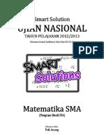 SMART SOLUTION UN MATEMATIKA SMA 2013 (SKL 2.11 SUDUT ANTARA DUA VEKTOR)