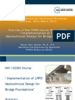 2012 Workshop LRFD Implementation in Geotechnical Design