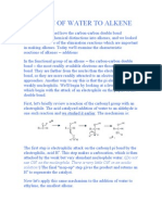 Addition of Water to Alkene 2