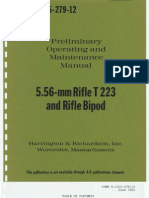 Preliminary Operating and Maintenance Manual 5.56-mm Rifle T223 and Rifle Bipod