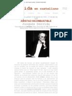 Derrida en castellano - Jean-François Lyotard - Amistad incombustible