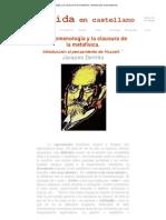 Derrida en castellano - La fenomenología y la clausura de la metafísica