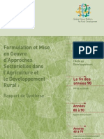 Formulating and Implementing Sector-wide Approaches in Agriculture and Rural Development (in French)