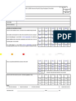 Internal Audit Checklist Example New