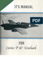 Pilot's Manual - Curtiss P-40 Warhawk WW