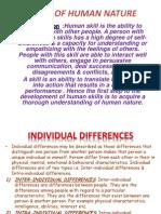 Basics of Human Nature