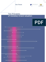 10 Principles of Monetary Brand Valuation