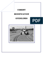 cement modification guideliness