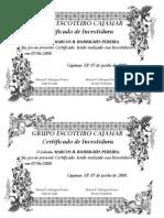 Certificado de Investidura
