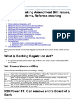 MRUNAL-Economy Banking Amendment Bill Issues Features Problems Reforms Meaning Explained