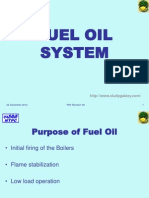 FUEL OIL SYSTEM Purpose
