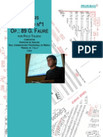 Análisis del Quinteto n1 de G Fauré