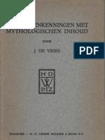 Jan de Vries - De Skaldenkenningen Met Mythologische Inhoud