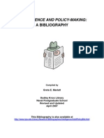 intelligence and policy making. a bibliography