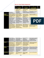 Rubric for Case Study