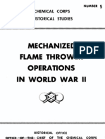Chemical Corps Historical Studies Number 5-Mechanized Flame Thrower Operations in World War II