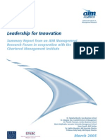 Leadership and innovation skills