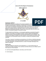 The Lecture of the First Degree of Freemasonry