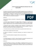 Acuerdo para la represión de la circulación de publicaciones obscenas. París, 4 de mayo de 1910