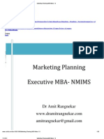 Marketing Planning MBA Notes 1