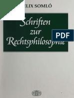 Somlo Schriften Zur Rechtsphilosophie