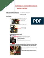 Procedimento Para Troca Do Filtro de Oleo Woe 912