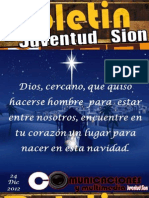 Boletín Juventud Sión 24 de Diciembre de 2012