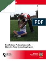 Orietación  pedagógica de la educacion física, recreación y deporte del MEC Colombia