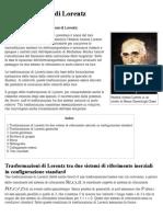 Trasformazione Di Lorentz - Wikipedia
