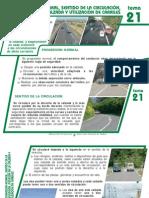 Tema 21 Progresion Normal Sentido de Circulacion Posicion en La Calzada y Utilizacion de Carriles