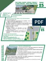 Tema 25 Intersecciones - Pasos a Nivel, Puentes Moviles, Tuneles y Pasos Inferiores- Pasos Para Peatones- Pasos Para Ciclistas