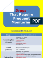 Drugs That Require Frequent Monitoring