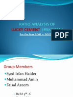 Ratio Analysis of Lucky Cement(Pakistan)