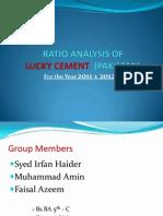 Ratio Analysis of Lucky Cement(Pakistan)
