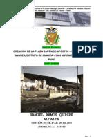 00 Perfil Creacion Plaza Santiago Apostol Ananea Final