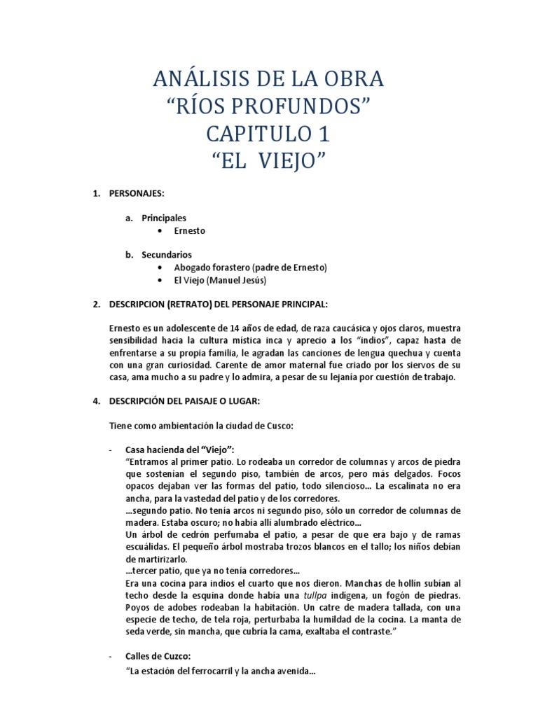 ANÁLISIS DE LA OBRA rios profundos cap 1
