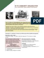 Introduction to Community Organization