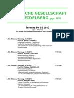 Vortragsreihe Der Chemischen Gesellschaft Ss2012